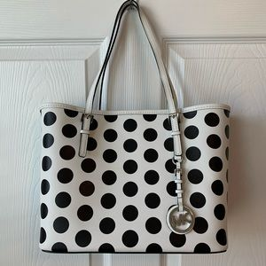 Michael Kors Jet Set Small Polka Dot Travel Tote